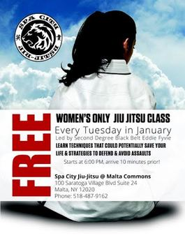 Women's self defense and Jiu Jitsu in Saratoga Springs Malta Ballston Spa