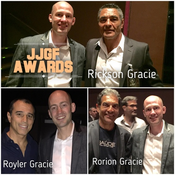 Eddie Fyvie with Rickson Gracie Royler Gracie and Rorion Gracie in Los Angeles JJGF
